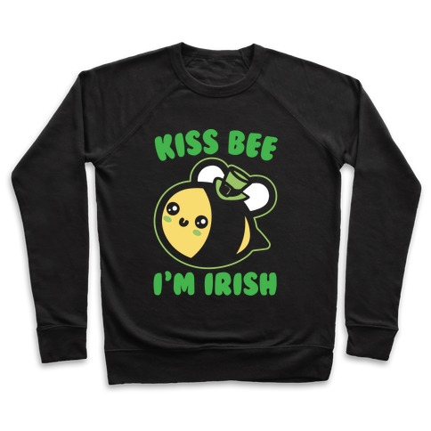Kiss Bee I'm Irish Parody White Print Pullover