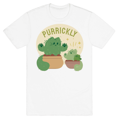 Purrickly! Mens T-Shirt