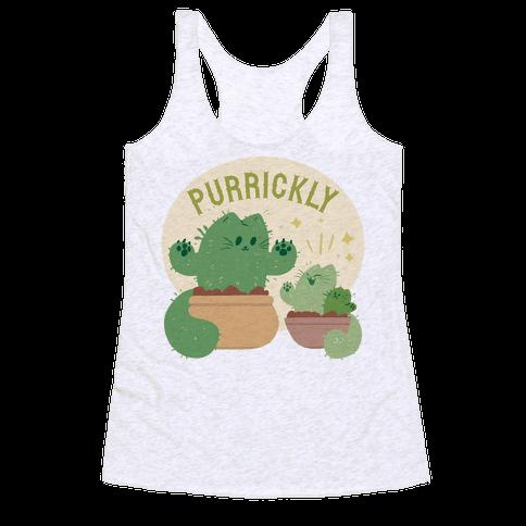 Purrickly! Racerback Tank Top