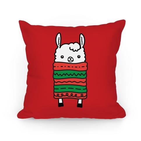 Long Llama Scarf Pillow