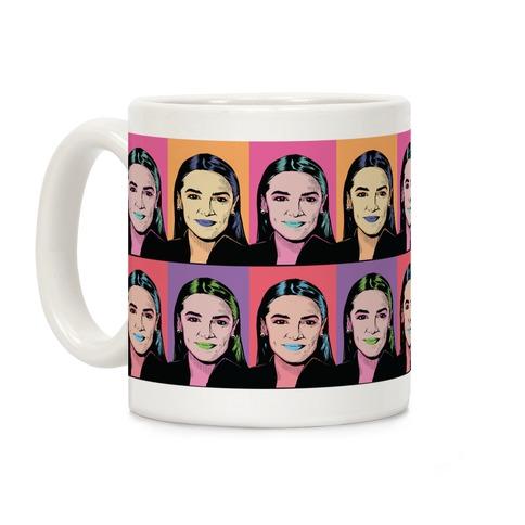 Alexandria Ocasio-Cortez Pop Art Parody Coffee Mug