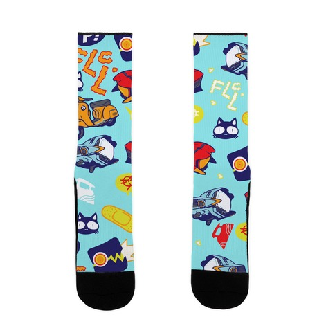 FLCL Anime Pattern Sock