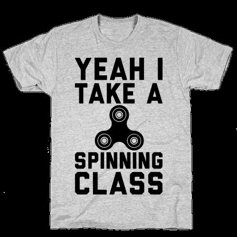 Yeah I Take A Spinning Class  Mens T-Shirt
