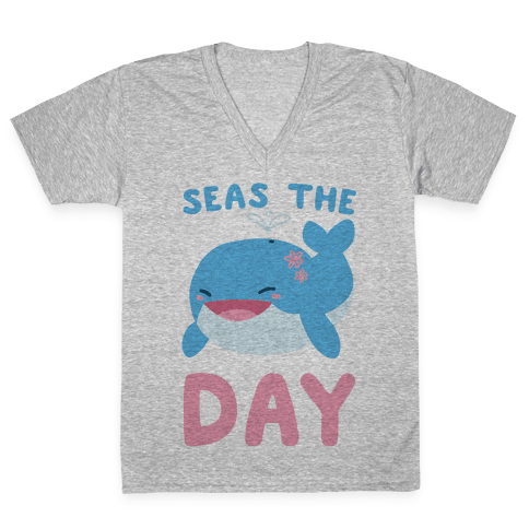 Seas the Day V-Neck Tee Shirt