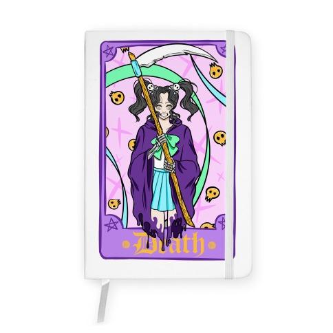 Pastel Goth Death Tarot Card Notebook