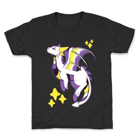 Non-Binary Pride Dragon Kids T-Shirt