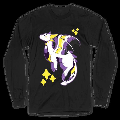 Non-Binary Pride Dragon Long Sleeve T-Shirt