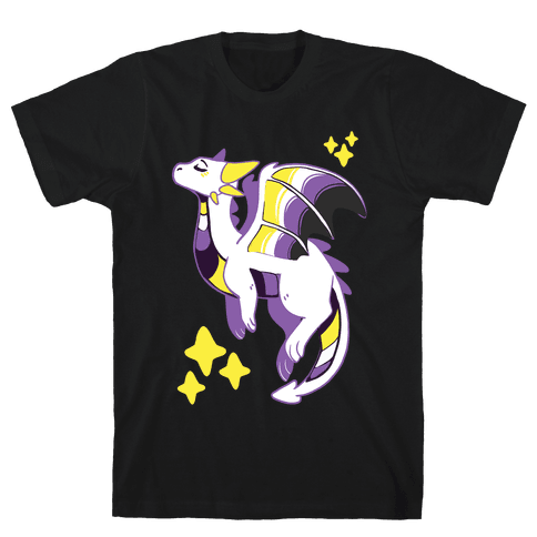 Non-Binary Pride Dragon Mens T-Shirt