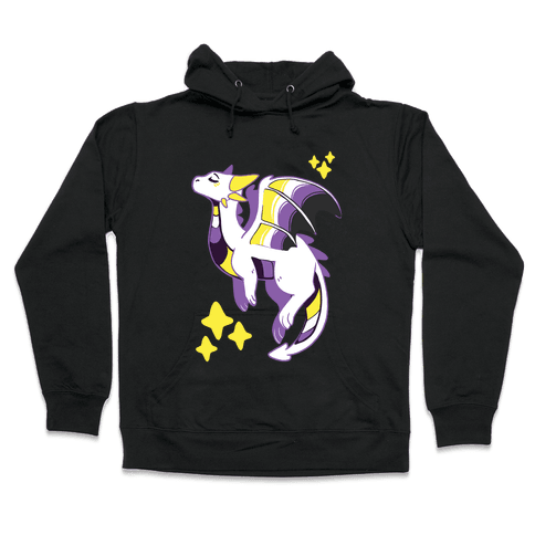 Non-Binary Pride Dragon Hooded Sweatshirt