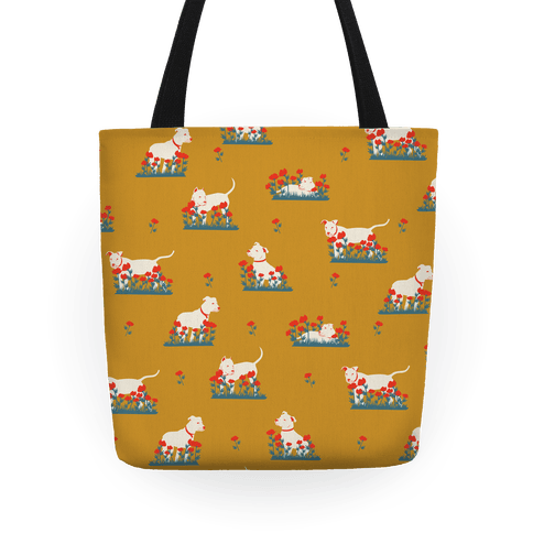 Pit Bull and Poppies Tote