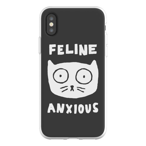 Feline Anxious Phone Flexi-Case