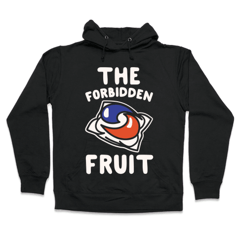 The Forbidden Fruit White Print Hooded Sweatshirt