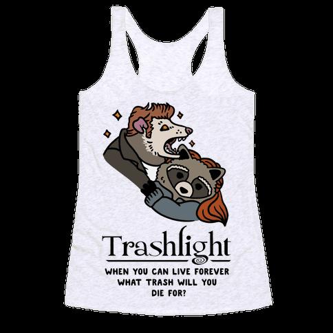 Trashlight Raccoon Opossum Parody Racerback Tank Top