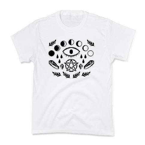 Occult Pixel Pattern Kids T-Shirt