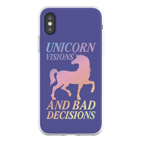 Unicorn Visions and Bad Decisions Phone Flexi-Case