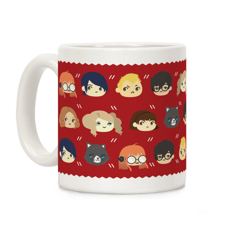 The Phantom Thieves Pattern Coffee Mug