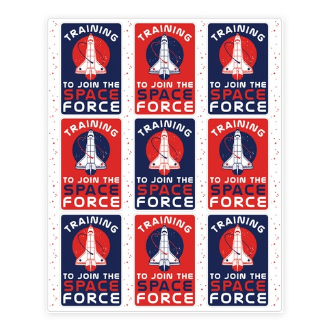 Training to Join the Space Force Sticker/Decal Sheet