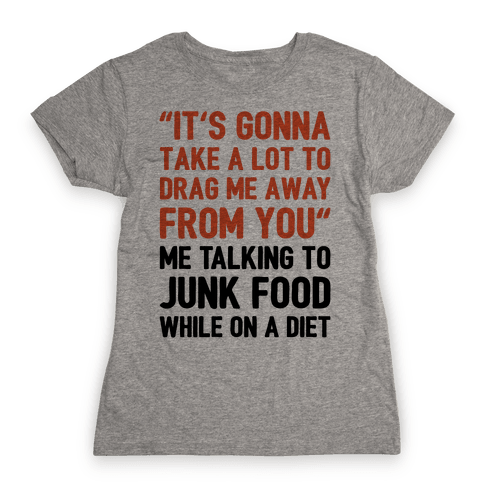Toto Africa Junk Food Parody Womens T-Shirt