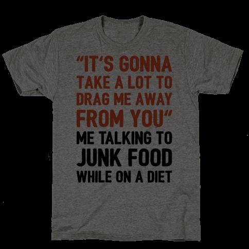 Toto Africa Junk Food Parody Mens T-Shirt
