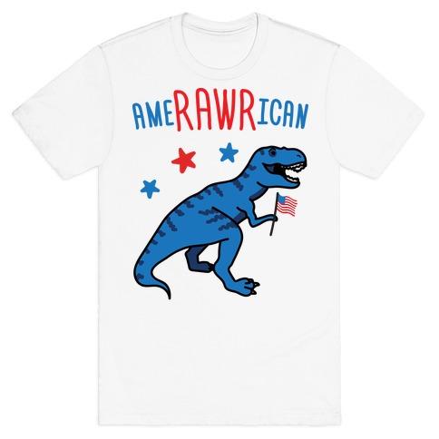AmeRAWRican Dino T-Shirt