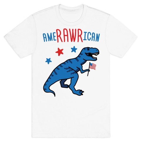 AmeRAWRican Dino Mens/Unisex T-Shirt