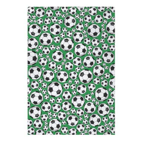 Soccer Balls Pattern Garden Flag
