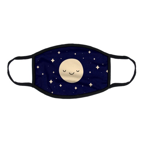 Happy Moon and Stars Flat Face Mask