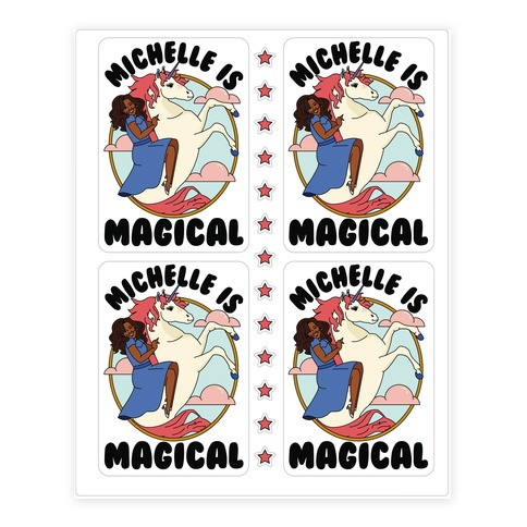 Michelle is Magical Sticker and Decal Sheet