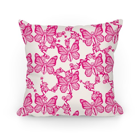 Butterfly Vagina Pattern Pillow
