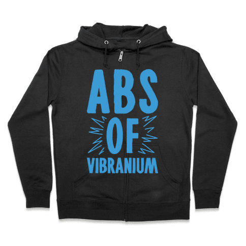 Abs Of Vibranium Parody Zip Hoodie