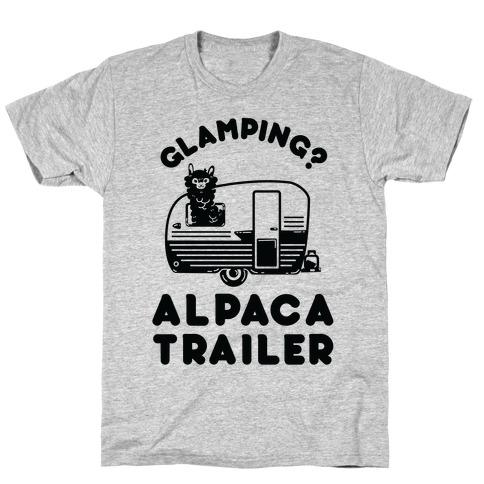 Glamping? Alpaca Trailer T-Shirt