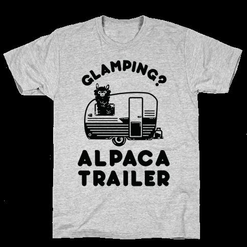 Glamping? Alpaca Trailer Mens T-Shirt