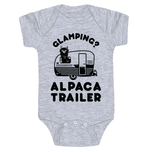 Glamping? Alpaca Trailer Baby Onesy