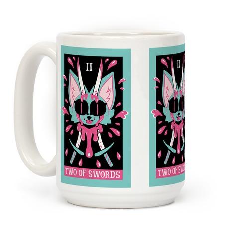 Creepy Cute Tarots: Two Of Swords Coffee Mug