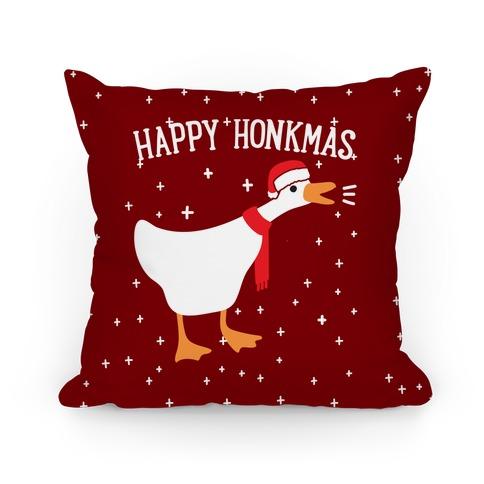 Happy Honkmas Goose Pillow