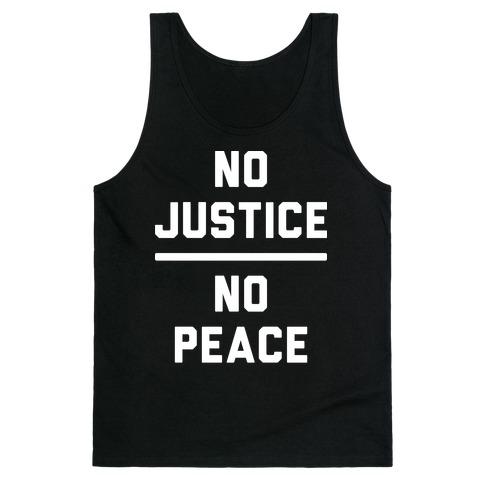 No Justice No Peace Tank Top