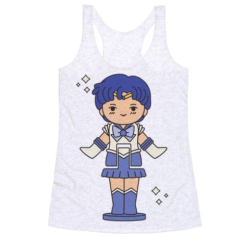 Sailor Mercury Pocket Parody Racerback Tank Top