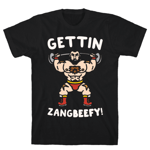Gettin Zangbeefy Parody White Print Mens T-Shirt
