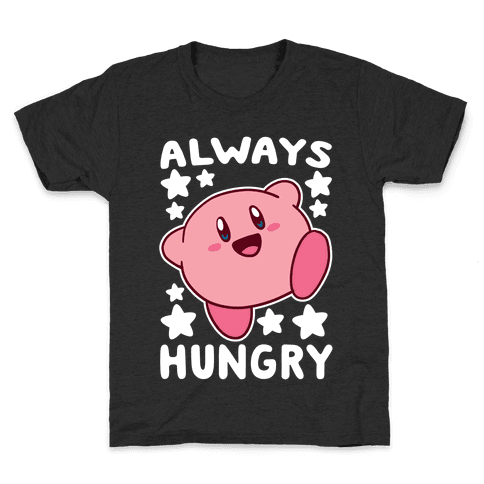 Always Hungry - Kirby Kids T-Shirt