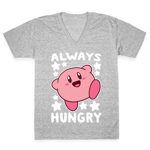 Always Hungry - Kirby V-Neck Tee Shirt