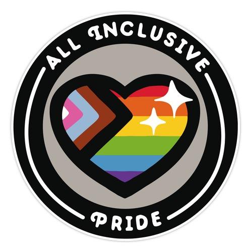 All Inclusive Pride Patch Die Cut Sticker