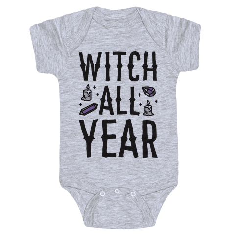 Witch All Year Baby Onesy