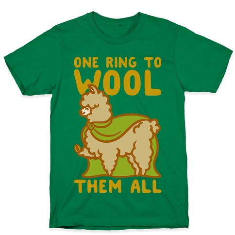 One Ring To Wool Them All Parody White Print T-Shirt