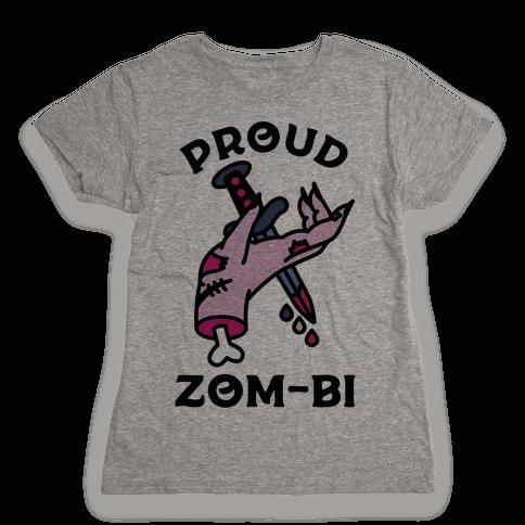 Proud Zom-bi Womens T-Shirt