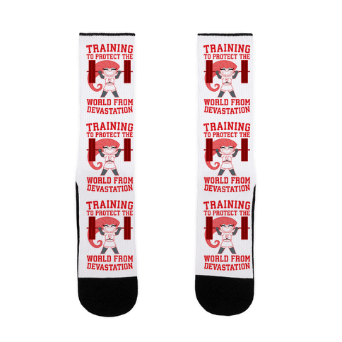 Training To Protect Our World From Devastation Sock
