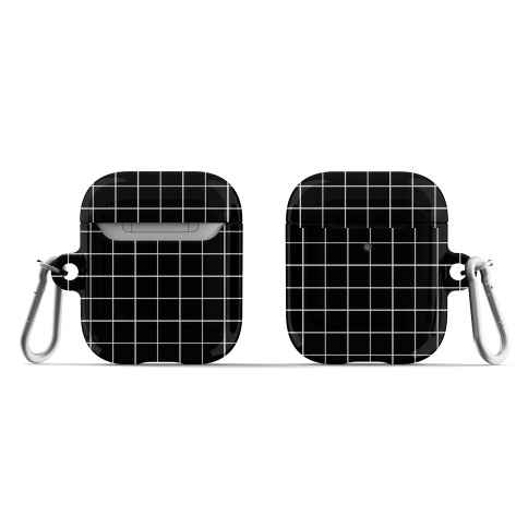 Black and White White Line Grid Design AirPod Case