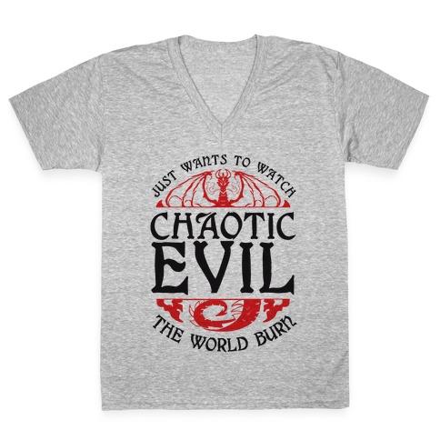 Chaotic Evil V-Neck Tee Shirt