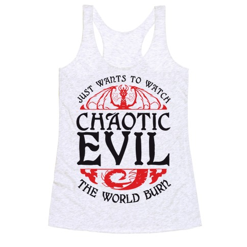 Chaotic Evil Racerback Tank Top