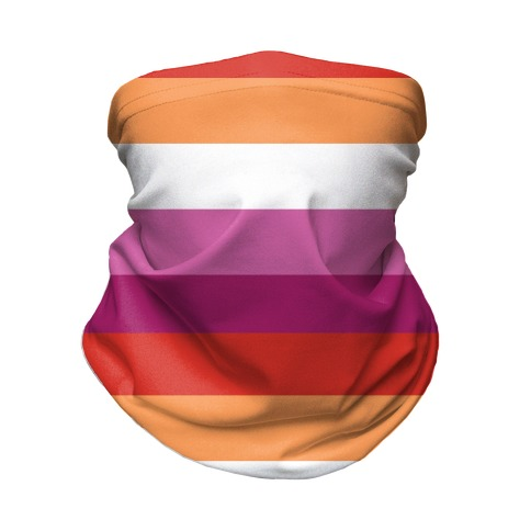 Lesbian Pride Flag Neck Gaiter
