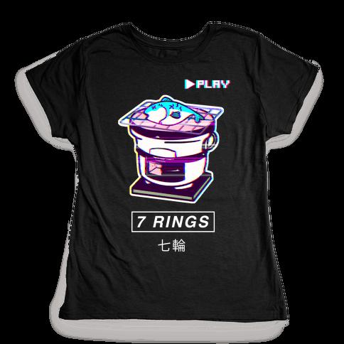 7 Rings Shichirin Parody Vapor Wave Womens T-Shirt